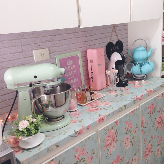 Papel De Parede No Armario De Cozinha : Cozinha home sweet por maria fernanda ojea